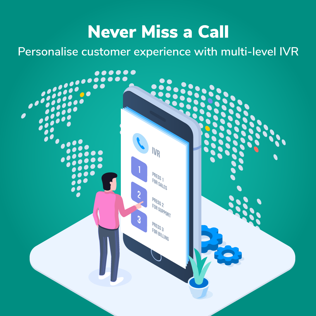 Missed call tracking, multi-level IVR, call management