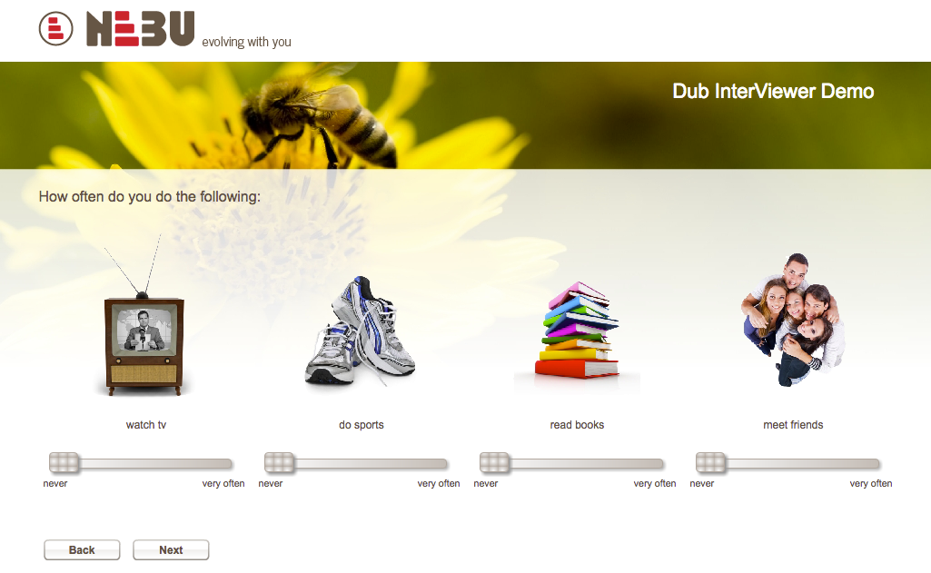 Dub InterViewer makes scripting easier and helps to create more engaging questionnaires