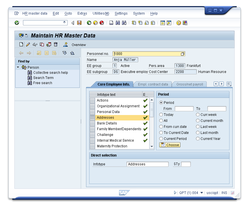SAP Customer Experience Software - HR data in SAP CRM