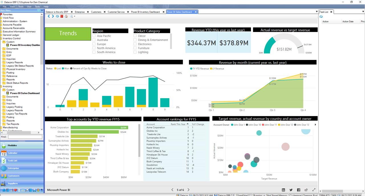 Datacor ERP Software - Power BI