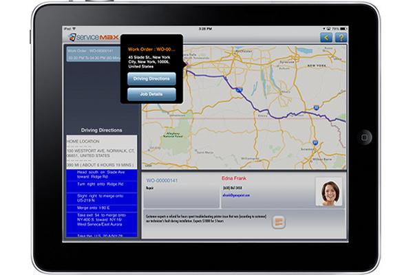 ServiceMax iPad app map