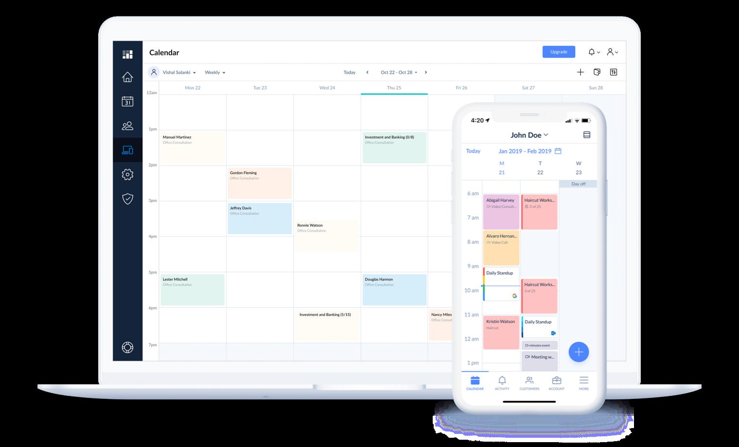 Setmore Software - Calendar