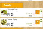 FoodZaps screenshot: Menu items can be seamlessly updated