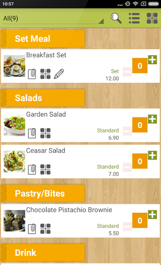 Menu items can be seamlessly updated