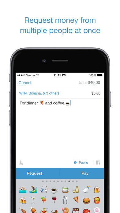 Users can attach a note or description with each payment