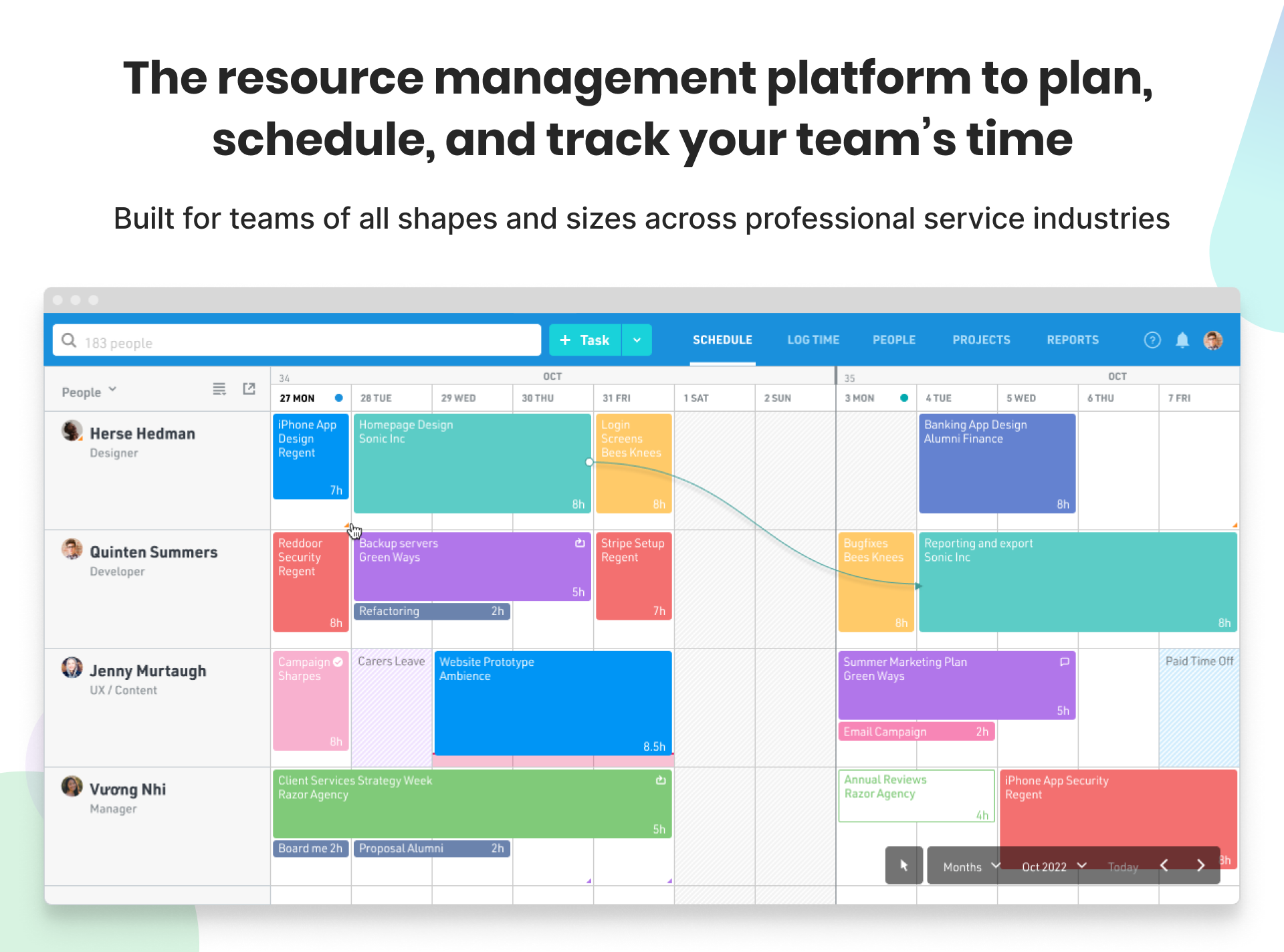 A single view of your team's capacity and workload