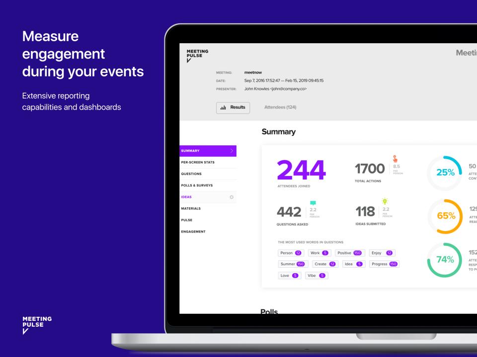 MeetingPulse Software - 3
