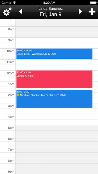 Schedulista can synchronize with Outlook, iPhone, Android, or Google Calendar