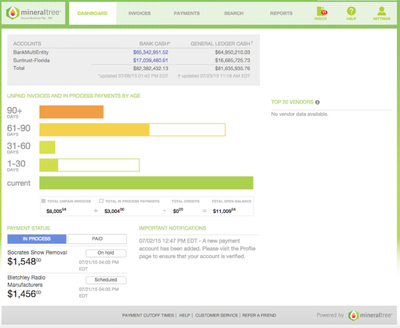 Accounting Manager Dashboard