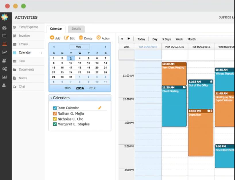 CosmoLex Software - CosmoLex calendar