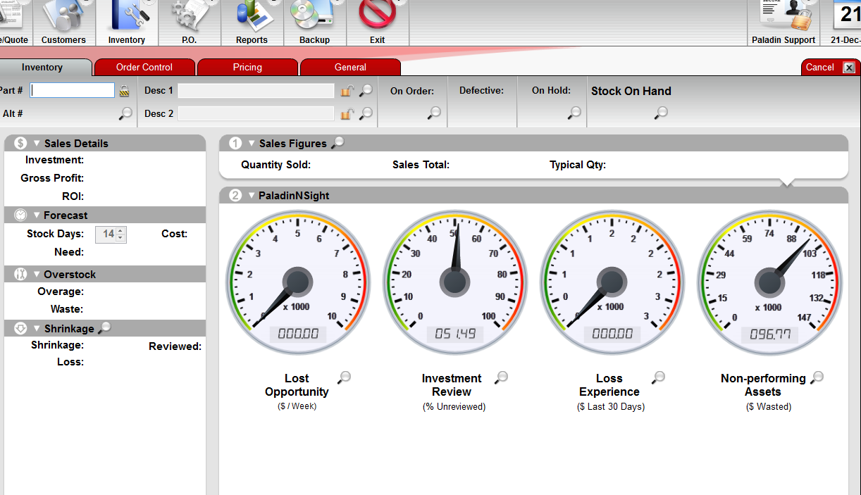 Paladin POS Software - Dashboard %>