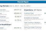 SalesBinder screenshot: SalesBinder reporting