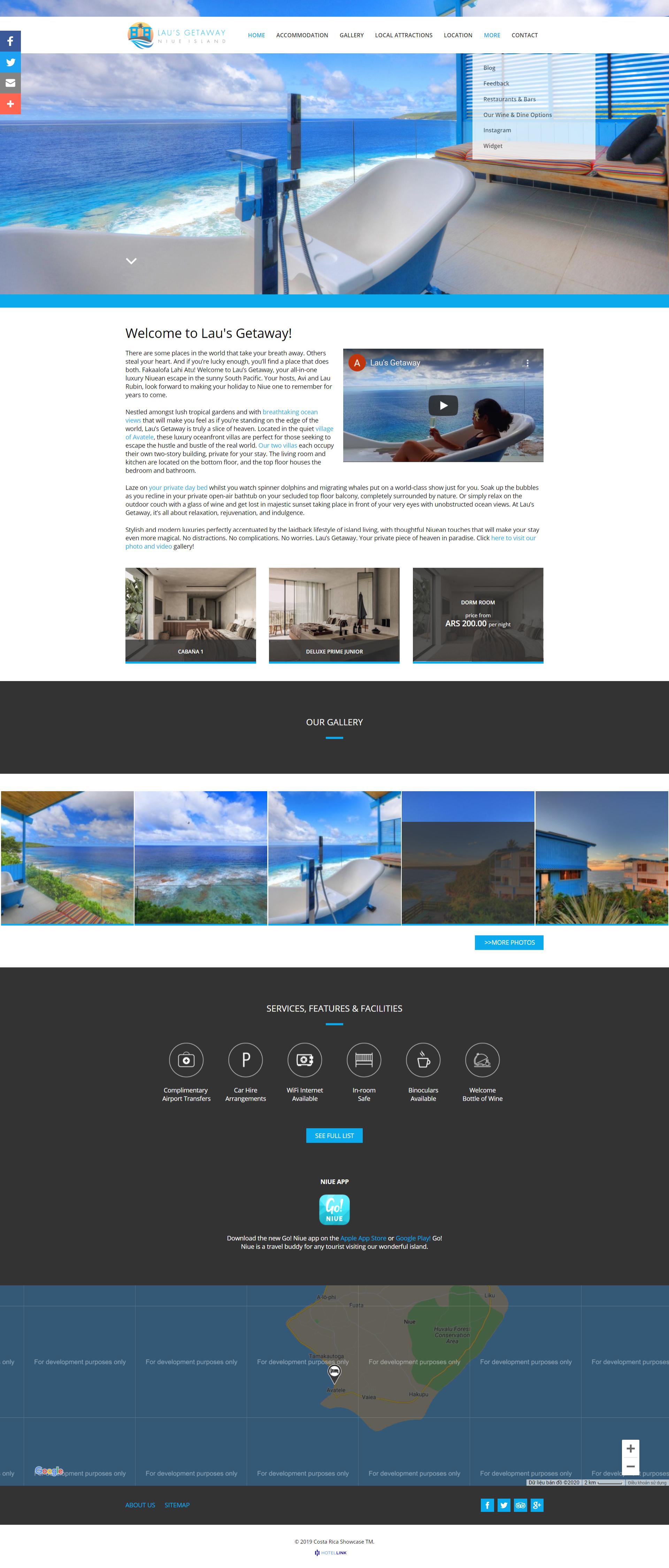 Hotel Link website template