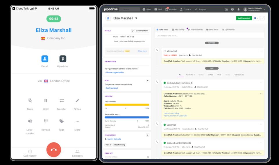 CloudTalk Software - CloudTalk call details