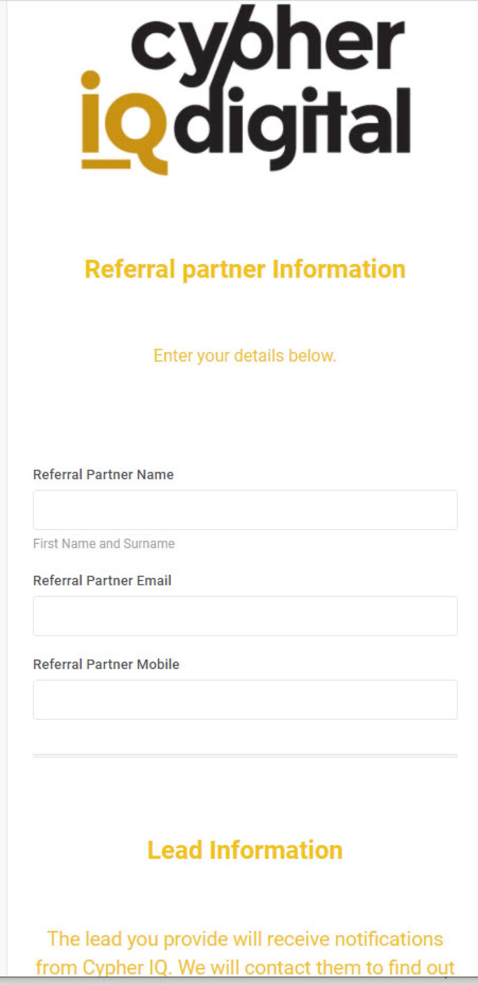 Cypher IQ partner information