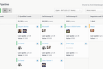 Contactually screenshot: Pipelines allow you to track and visualize your deals.