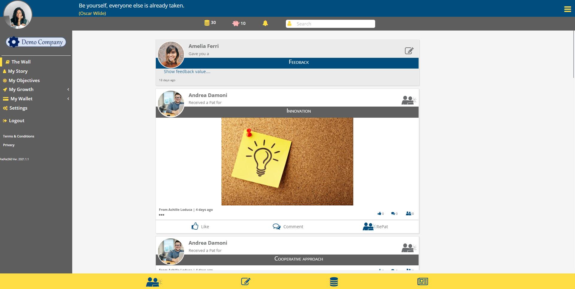 PatPat360 display feedback