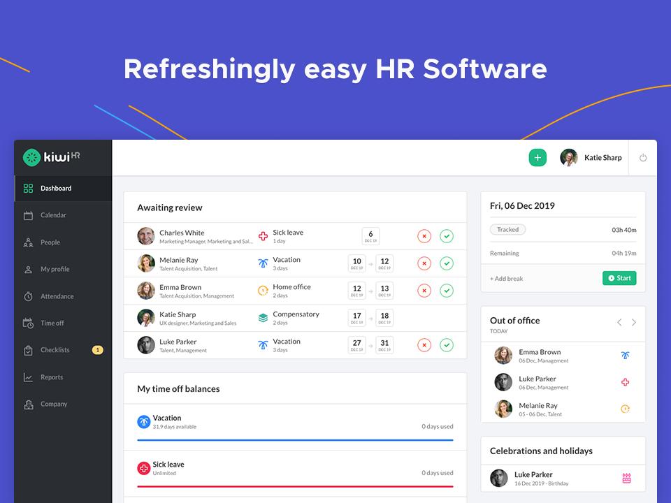kiwiHR HR software