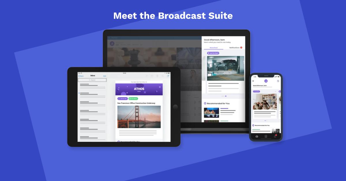 Broadcast your employee news