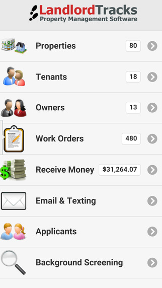 LandlordTracks screenshot: Native Android and iOS apps allow users to access LandlordTracks from wherever they are