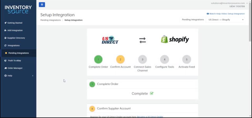 Inventory Source set up integration