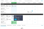 Capture d'écran pour HotSchedules : The scheduling calendar allows users to create and edit shifts