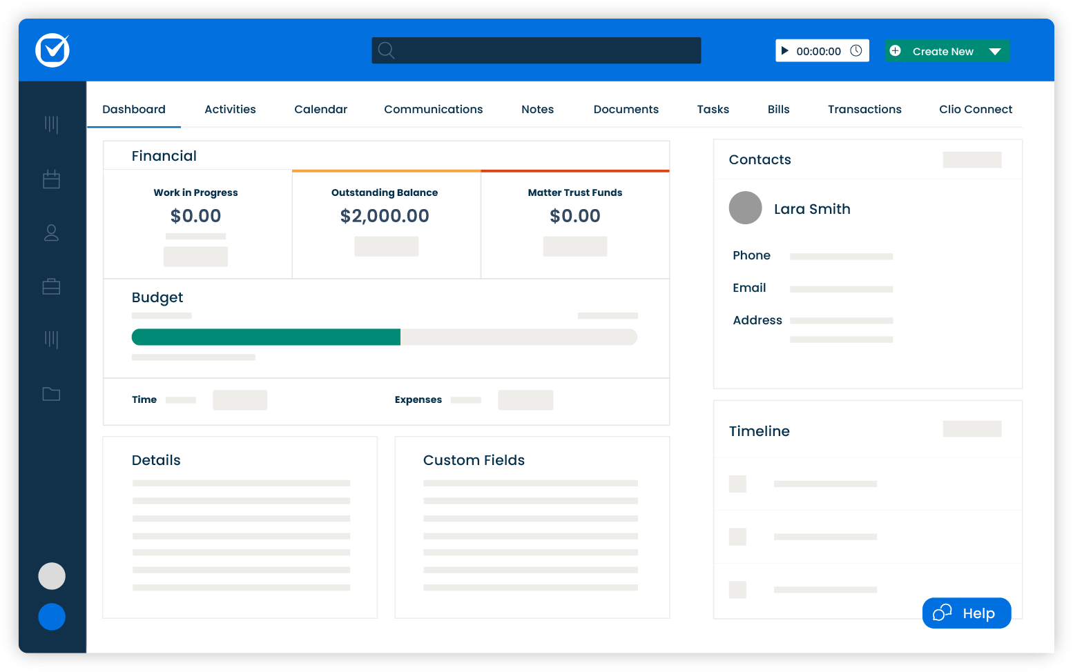Stay organized, and manage your cases—from anywhere, anytime. Our case management functionality ensures every detail from every matter is captured.