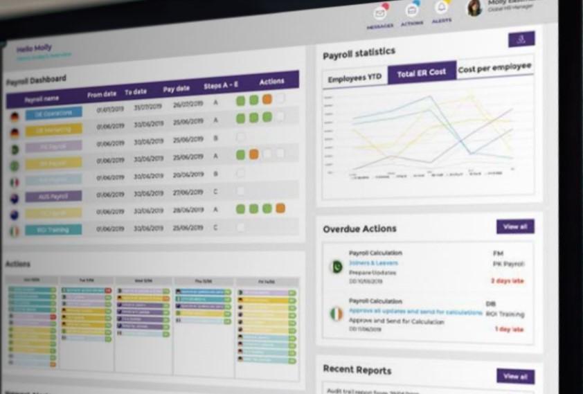 Payslip viewing payroll dashboard