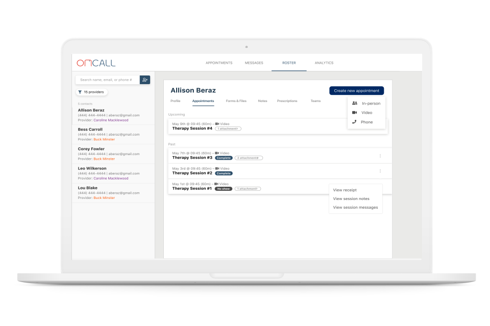 OnCall Health Logiciel - 1