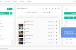 OptiSigns screenshot: Drag & drop to create your playlist