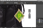 Captura de pantalla de Adobe Illustrator: Illustrator CC users have the possibility to free transform elements in a more intuitive way