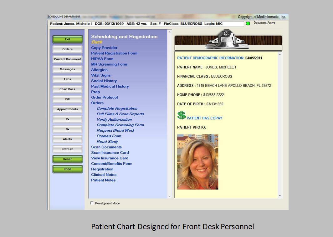 MedInformatix Software - Front desk