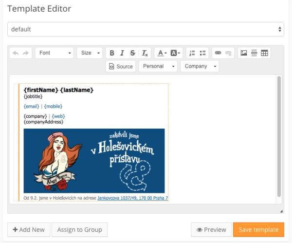 SignatureSatori template editor