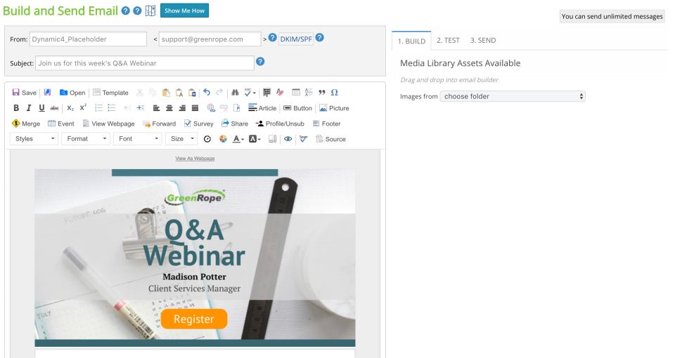 GreenRope Software - Email EasyBuilder
