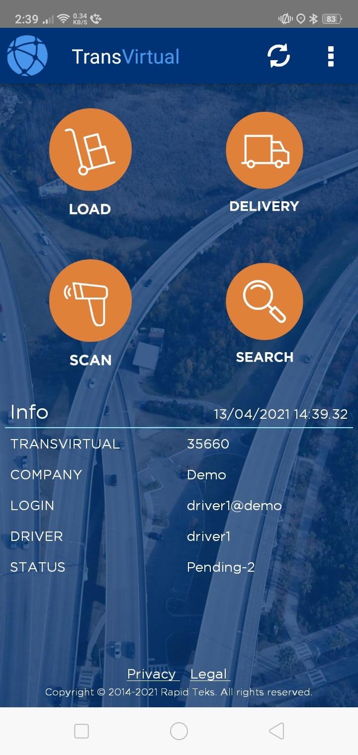 TransVirtual Software - App Home Screen