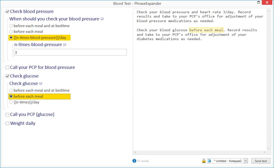 PhraseExpander custom template