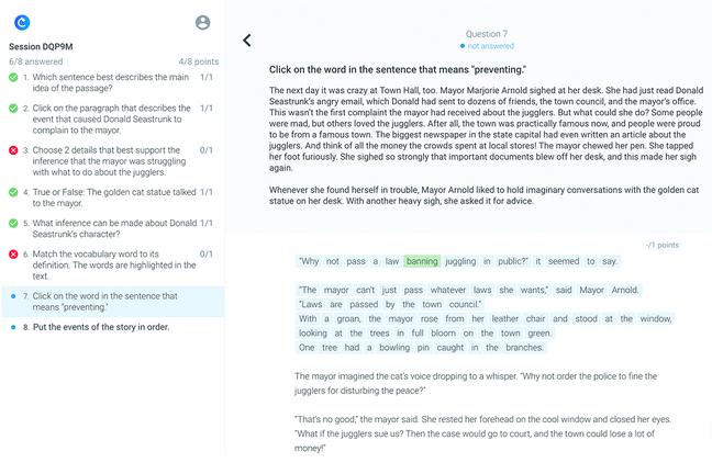 Classtime Software - Classtime highlight questions