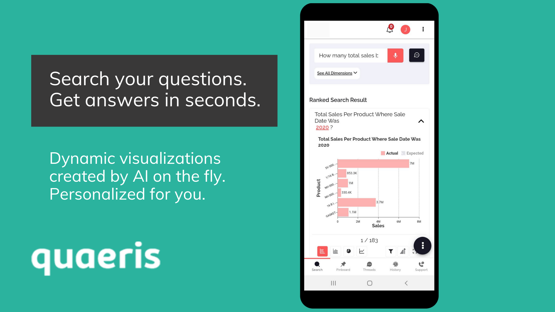 Search your questions. Get answers in seconds.