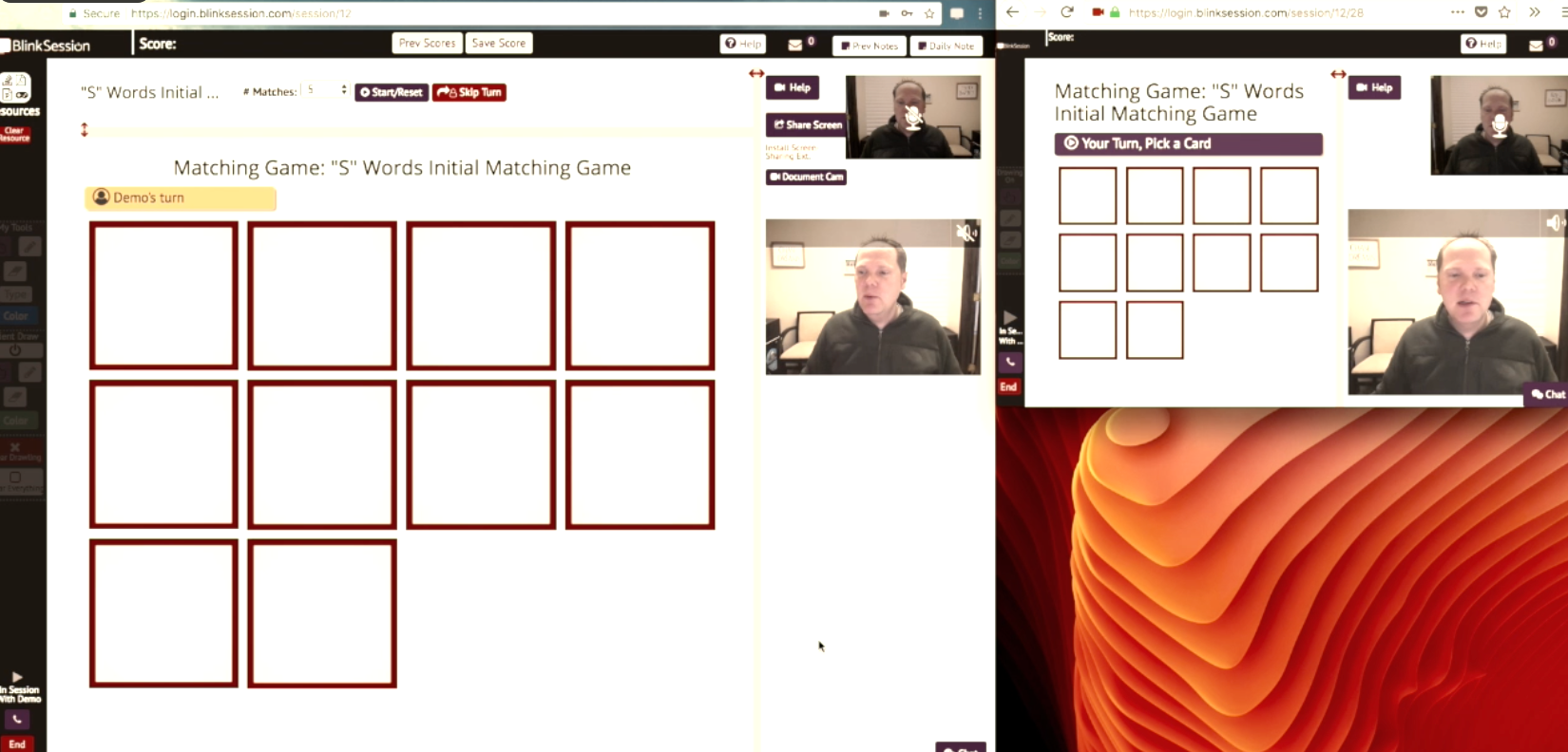 Games and other content can be used within sessions to facilitate interaction