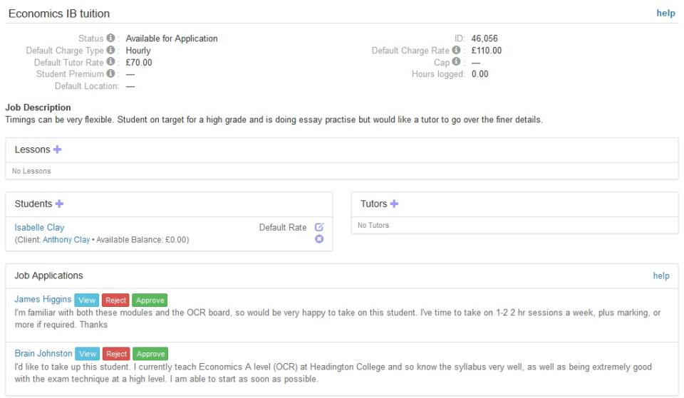 TutorCruncher Software - Tutor-student matching