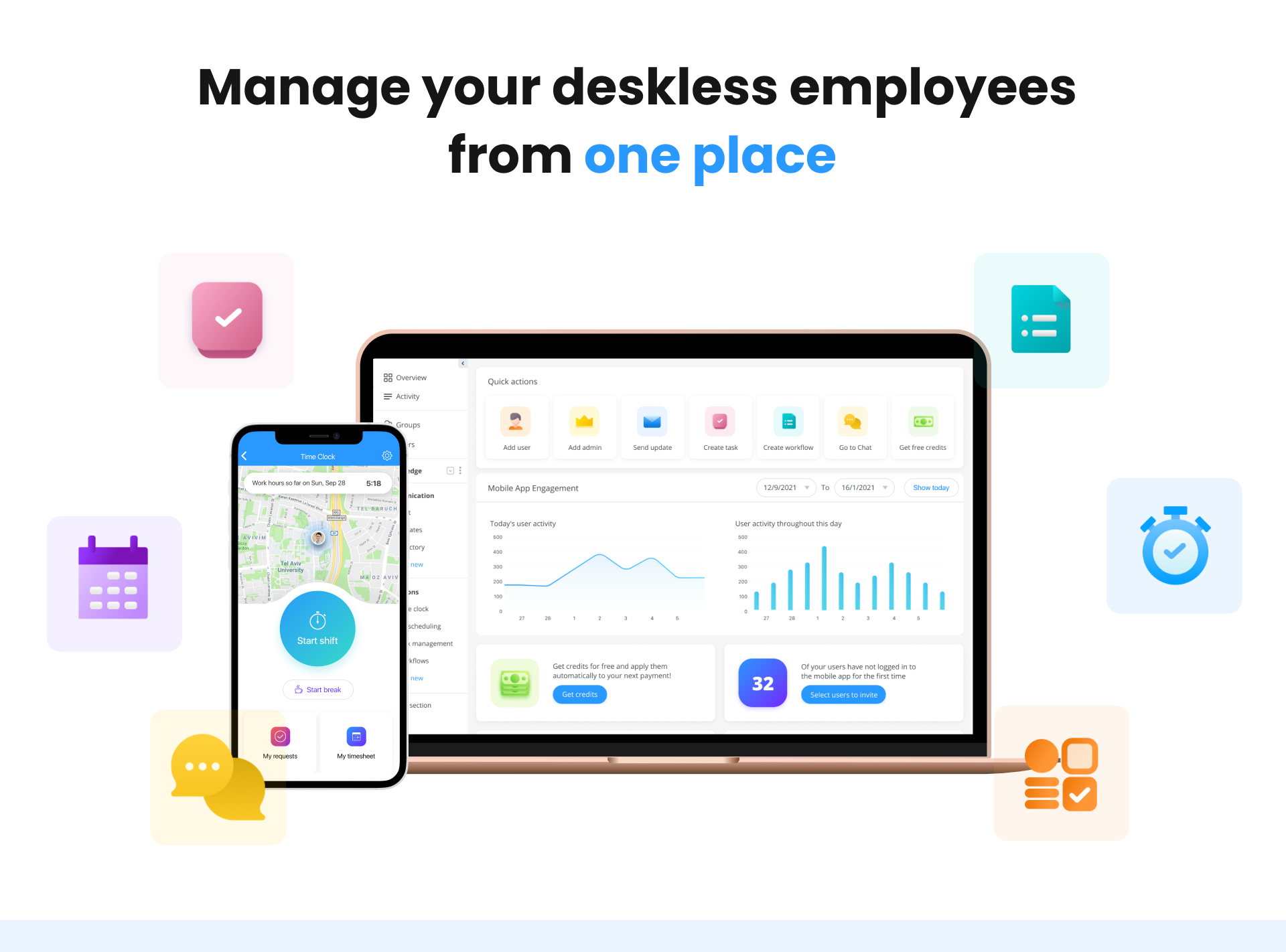 Connecteam Software - Manage your deskless employees from one place
