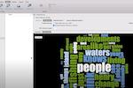 NVivo screenshot: Nvivo word cloud