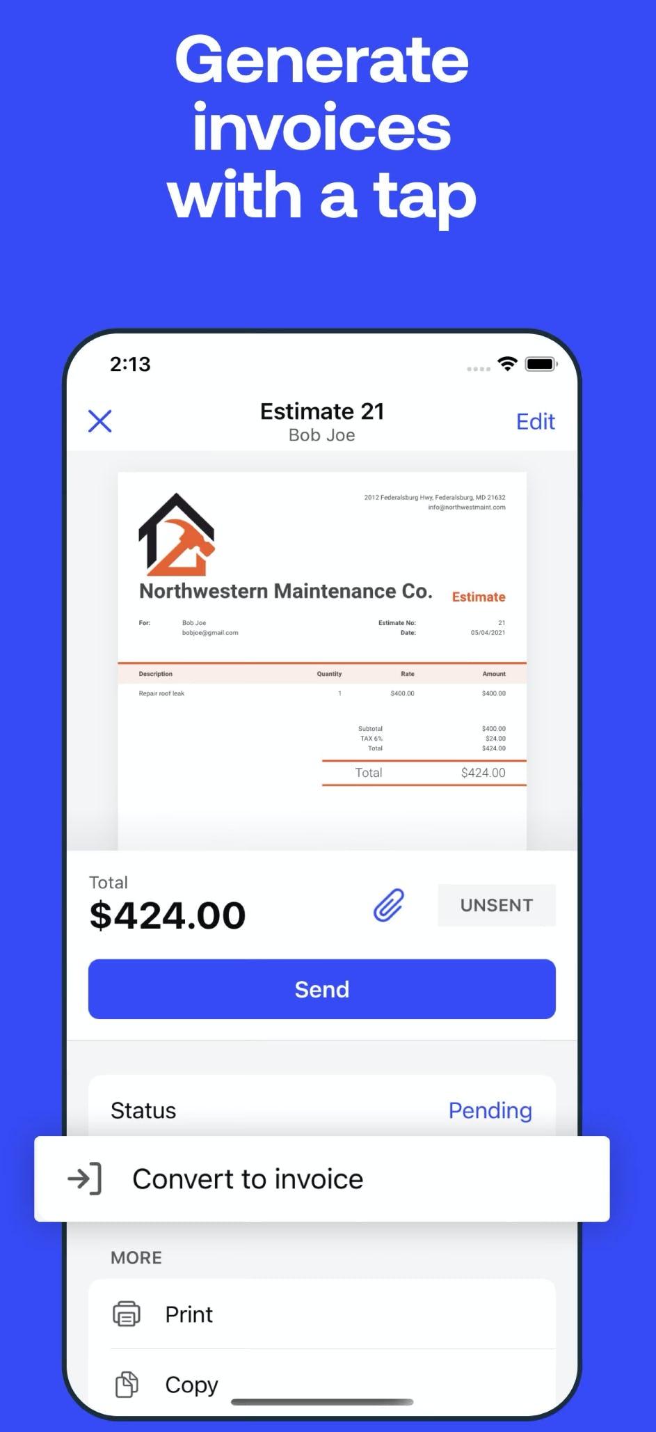 Invoice2go Software - 4