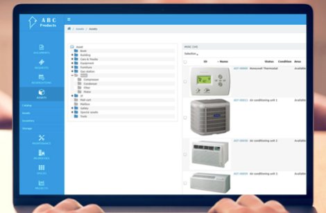 Axxerion Software - Manage inventory and assets within the Axxerion system