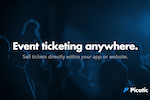Captura de pantalla de Picatic: Picatic API. Event ticketing anywhere. Sell tickets directly within your app or website.