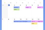 TickTick screenshot: TickTick calendar view