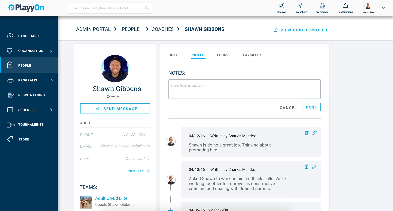 PlayyOn Software - Profiles