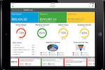 Sage Business Cloud screenshot: Financial performance analysis