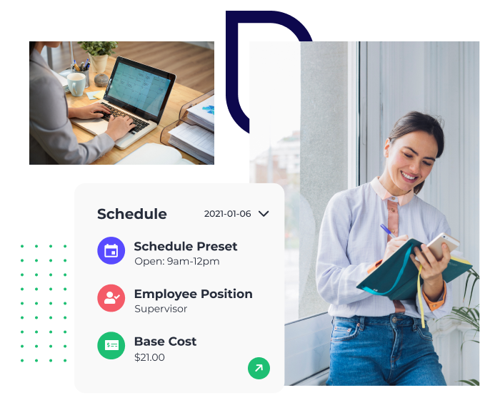 Schedule faster and smarter with our easy-to-use scheduler. Push Scheduling helps you forecast and track labor budgets against actual cost in real time, enabling you to streamline your operations.
