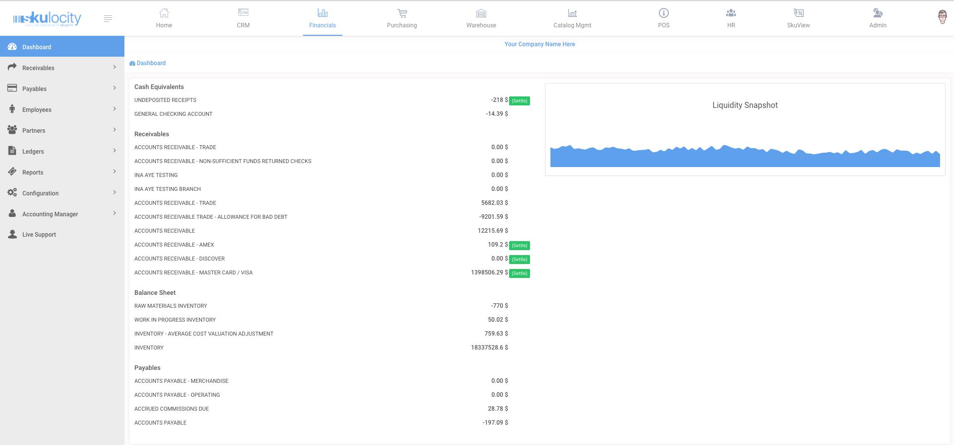 Skulocity finance dashboard
